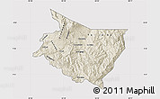 Shaded Relief Map of Cartago, cropped outside