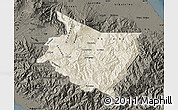 Shaded Relief Map of Cartago, darken
