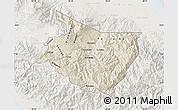 Shaded Relief Map of Cartago, lighten
