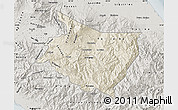 Shaded Relief Map of Cartago, semi-desaturated