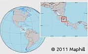 Gray Location Map of Oreamuno