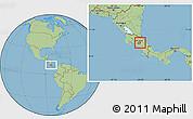 Savanna Style Location Map of Oreamuno