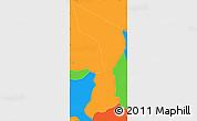Political Simple Map of Oreamuno