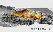 Physical Panoramic Map of Cartago, desaturated