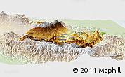 Physical Panoramic Map of Cartago, lighten