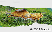 Physical Panoramic Map of Cartago, satellite outside