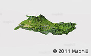 Satellite Panoramic Map of Cartago, cropped outside