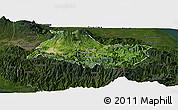 Satellite Panoramic Map of Cartago, darken