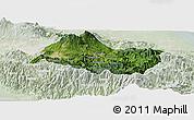 Satellite Panoramic Map of Cartago, lighten