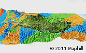 Satellite Panoramic Map of Cartago, political outside