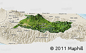 Satellite Panoramic Map of Cartago, shaded relief outside