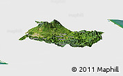 Satellite Panoramic Map of Cartago, single color outside