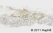 Shaded Relief Panoramic Map of Cartago, lighten