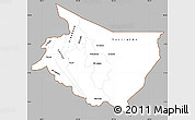 Gray Simple Map of Cartago, cropped outside