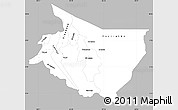 Gray Simple Map of Cartago, single color outside