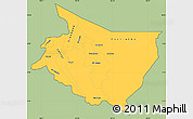 Savanna Style Simple Map of Cartago, cropped outside
