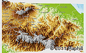 Physical 3D Map of Turrialba
