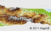 Physical Panoramic Map of Turrialba
