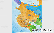 Political Shades 3D Map of Guanacaste