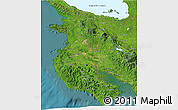 Satellite 3D Map of Guanacaste
