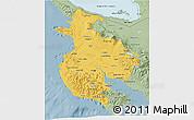 Savanna Style 3D Map of Guanacaste