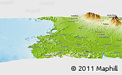 Physical Panoramic Map of Carrillo