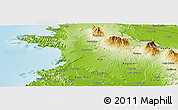 Physical Panoramic Map of Liberia