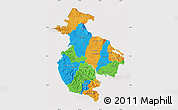 Political Map of Guanacaste, cropped outside