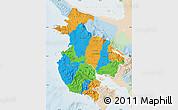 Political Map of Guanacaste, lighten