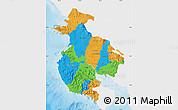 Political Map of Guanacaste, single color outside