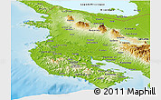 Physical Panoramic Map of Guanacaste
