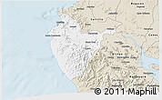 Classic Style 3D Map of Santa Cruz