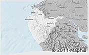 Gray 3D Map of Santa Cruz
