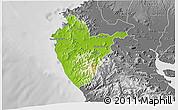 Physical 3D Map of Santa Cruz, desaturated