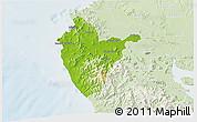 Physical 3D Map of Santa Cruz, lighten