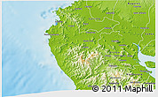 Physical 3D Map of Santa Cruz