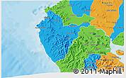 Political 3D Map of Santa Cruz