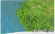 Satellite 3D Map of Santa Cruz