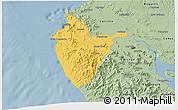 Savanna Style 3D Map of Santa Cruz