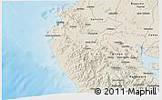 Shaded Relief 3D Map of Santa Cruz