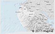 Silver Style 3D Map of Santa Cruz