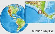 Physical Location Map of Santa Cruz, highlighted parent region