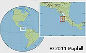 Savanna Style Location Map of Santa Cruz