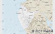 Classic Style Map of Santa Cruz