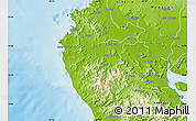 Physical Map of Santa Cruz