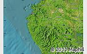 Satellite Map of Santa Cruz