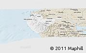 Classic Style Panoramic Map of Santa Cruz