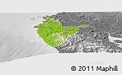Physical Panoramic Map of Santa Cruz, desaturated