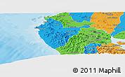 Political Panoramic Map of Santa Cruz
