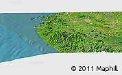 Satellite Panoramic Map of Santa Cruz